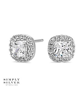 Simply Silver square clara earring