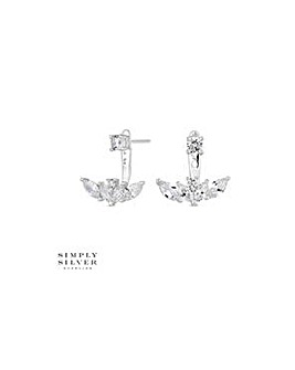 Simply Silver leaf earring