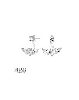 Simply Silver leaf earring