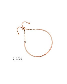 Simply Silver bangle toggle bracelet