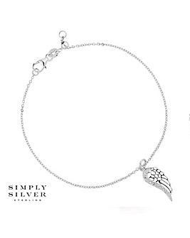 Simply Silver angel wing bracelet