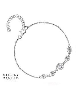 Simply Silver cubic zirconia bracelet