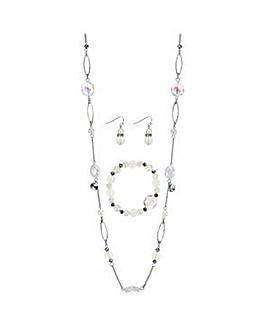 Mood Beaded rope necklace jewellery set