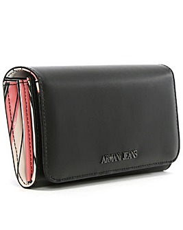 Armani Jeans Black Fold Over Wallet