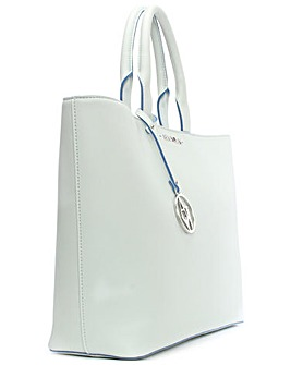 Armani Jeans Large White Tote Bag