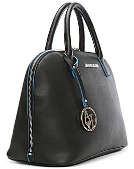 Armani Jeans Black Dome Tote Bag
