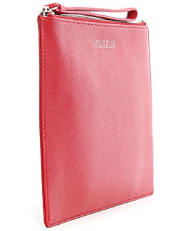 Armani Jeans Red Leather Wallet Bag