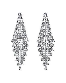 Mood crystal shower chandelier earring
