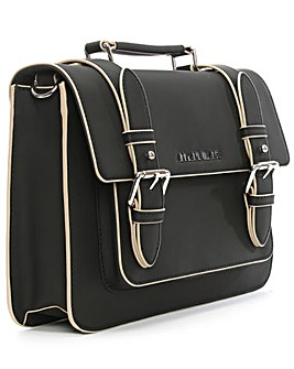 Armani Jeans Black Trim Satchel Bag