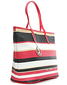 Armani Jeans Red Striped Shopper
