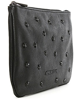 Armani Jeans Star Embellished Clutch Bag