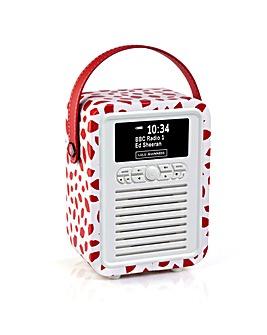 VQ Retro Mini DAB/FM Radio - Red Lip