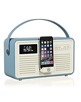 VQ Retro Mk II DAB Radio & Dock - Blue