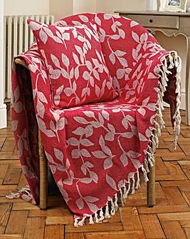 Leaf Jacquard Cushion Covers Pack of 2
