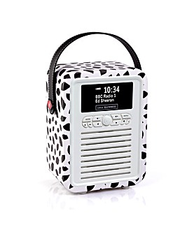 VQ Retro Mini DAB/FM Radio - Black Lip