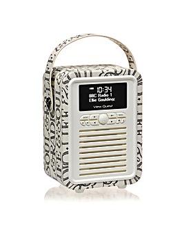 VQ Retro Mini DAB/FM Radio -Black Toast