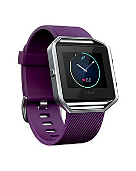 Fitbit Blaze Smart Watch - Plum Small