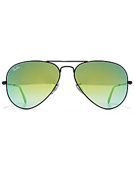 Ray-Ban Metal Wrap Sunglasses in Silver