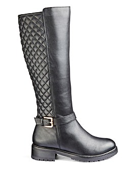 Sole Diva Quinn Boots Curvy Plus E Fit