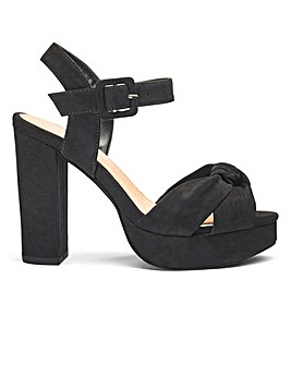 Sole Diva Knot Detail Platform EEE Fit