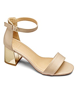 Sole Diva Block Heel Sandal Wide EEE Fit