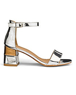 Block Heel Sandals E Fit