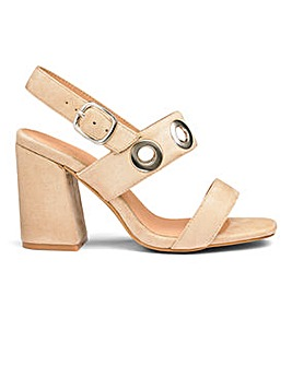 Sole Diva Eyelet Detail Sandals EEE Fit