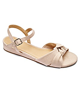 Sole Diva Knot Wedge Sandal EEE Fit