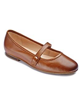 The Shoe Tailor Bar Ballerina Shoe EEEEE