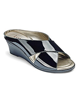 Lotus Leather Mule Sandals E Fit