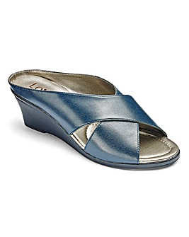 Lotus Leather Mule Sandals EEE Fit
