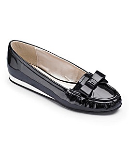 Sole Diva Bow Loafers E Fit