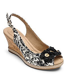Hotter Hattie Wedge Sandals E Fit