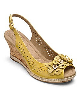 Hotter Hattie Wedge Sandals E Fit