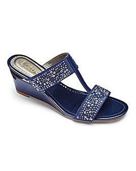 Lotus Wedge Mule Sandals D Fit