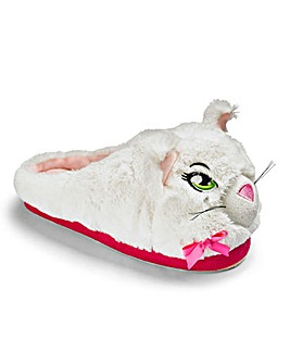 Heavenly Soles Novelty Cat Mule Slippers
