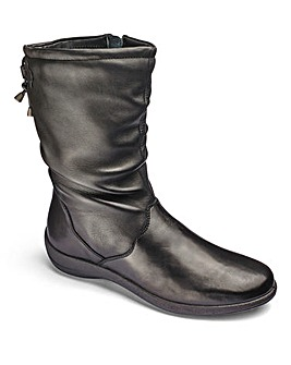 Padders Leather Slouch Mid Boots E Fit