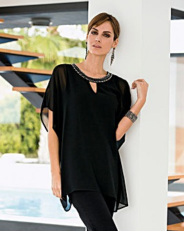 Together Beaded Neckline Blouse