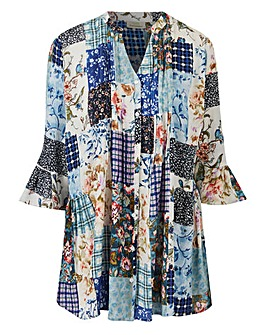 Together Patchwork Print Blouse