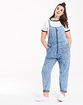 Daisy Street Acid Wash Denim Jumpsuit