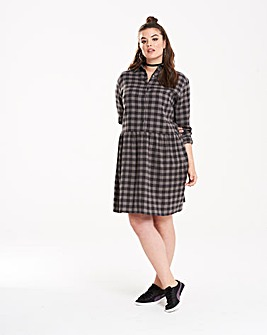 Daisy Street Checked Shirt Dress
