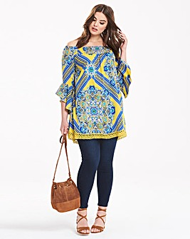 AX Paris Off Shoulder Print Top