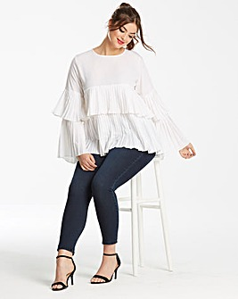 AX Paris Multi Ruffle Blouse