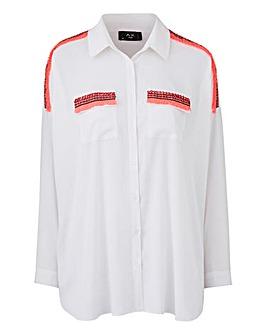 AX Paris Contrast Tassel Shirt