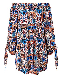 AX Paris Off Shoulder Printed Blouse