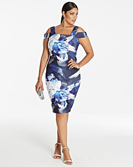 Coast Idole Printed Scuba Dress