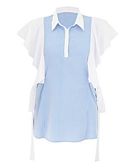 AX Paris Sleeveless Ruffle Blouse