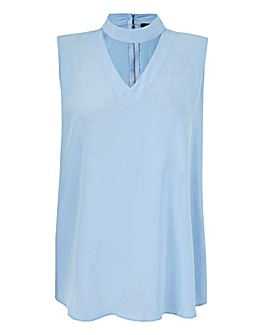 AX Paris Sleeveless Collar Tunic