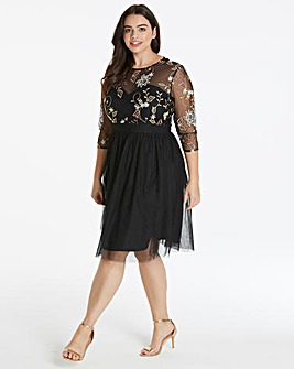 Little Mistress Embroidered Prom Dress