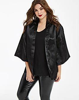 Fashion Union Jacquard Crop Kimono